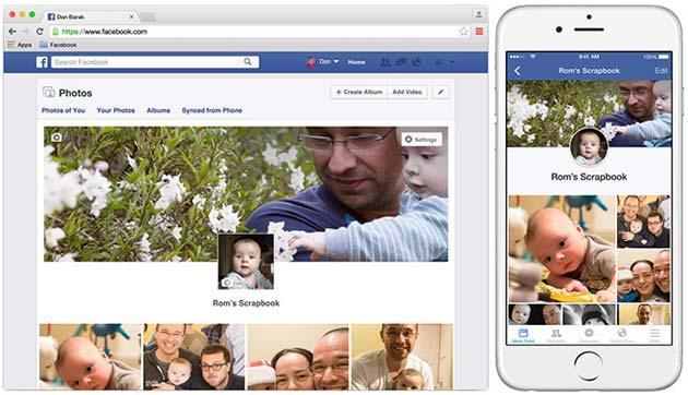 Facebook Scrapbook, Album ricordo dei figli