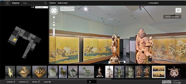 Su Google le opere d' arte in 3D del MAO di Torino