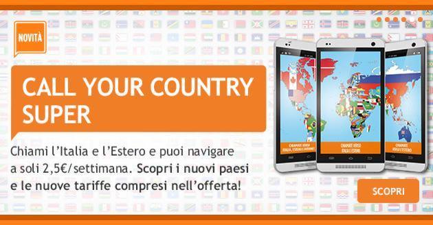 Wind Call Your Country Super: chiamate a un prezzo speciale verso l'estero