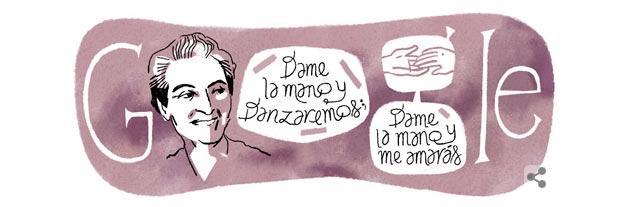 Google Doodle a Gabriela Mistral, Prima Donna a vincere Nobel per la letteratura