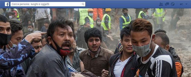 Terremoto Nepal, Facebook attiva il pulsate Dona