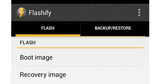 Flashify per Android: gestione delle Recovery a portata di tutti