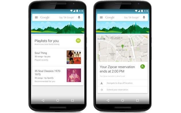Google Now, arriva supporto per 70 ulteriori app Android
