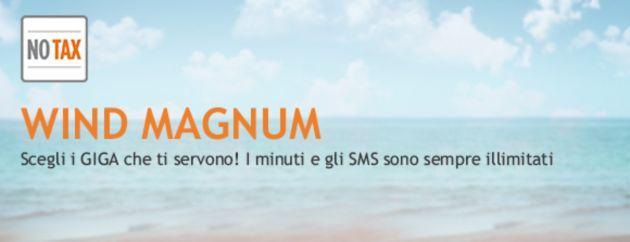 Wind: Tariffa Wind Magnum, 2 sim con navigazione dati fino a 14 GB