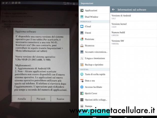 LG G Pad 7.0 si aggiorna ad Android 5.0.2 Lollipop in Italia