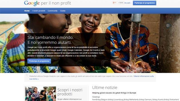 Google No Profilt, piattaforma per No Profit In Italia