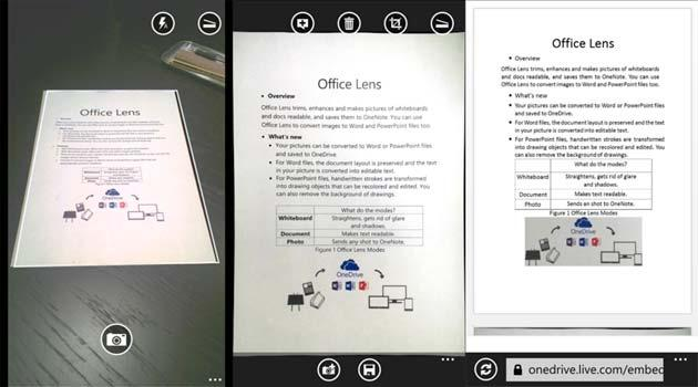 Office Lens trasforma Android e iPhone in scanner di documenti