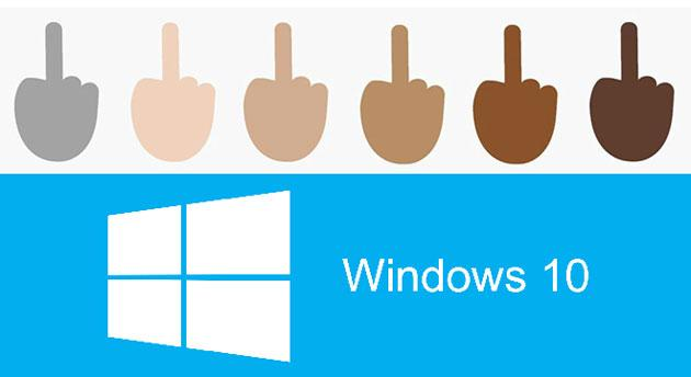 Windows 10 introduce il Dito Medio come Emoji
