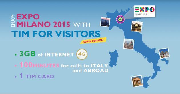 Tim For Visitors Expo Edition: l'offerta di Tim per Expo 2015