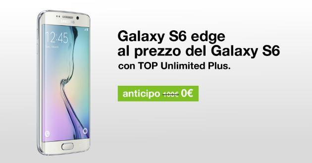 Tre: con Top Unlimited Plus, Galaxy S6 Edge allo stesso prezzo di Galaxy S6