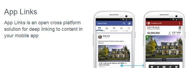 Facebook attiva i Link nelle applicazioni