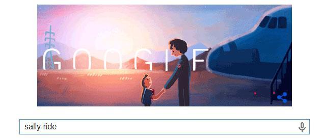 Google Doodle a Sally Ride, prima astronauta USA