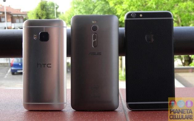 Apple iPhone 6 Plus vs HTC One M9 vs Asus Zenfone 2 4GB RAM, il nostro confronto