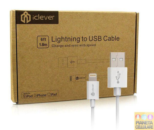 Recensione Cavo Lightning 1,8 metri iClever