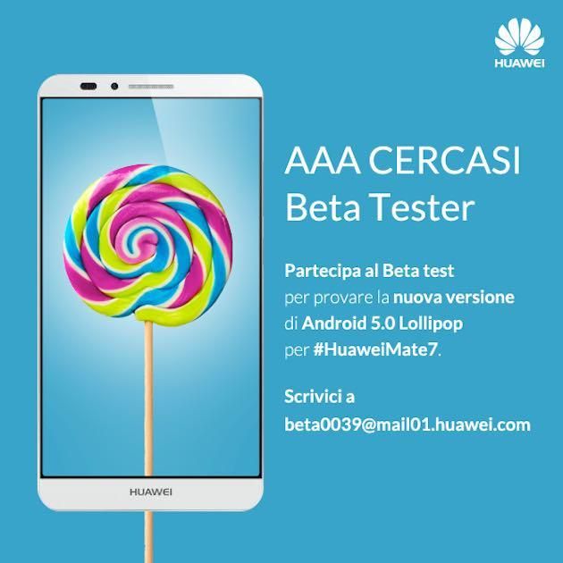 Huawei: beta su invito per Android Lollipop su Mate 7 e primo video
