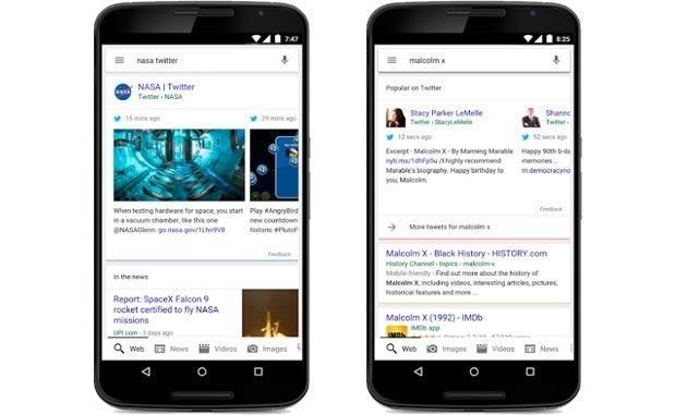 Google integra i tweet nelle ricerche Mobile