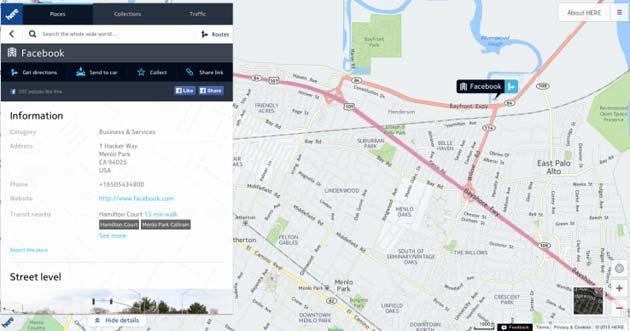 Facebook sceglie le mappe Nokia Here per Instagram e Messenger