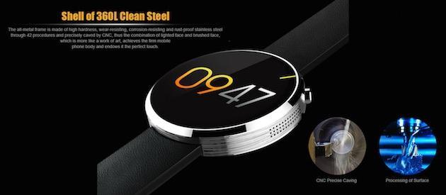 DM360, Smartwatch circolare per Android ed iOS in offerta a meno di 50 euro
