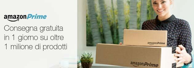 Amazon, in Italia consegne in 1 giorno gratis per iscritti Prime