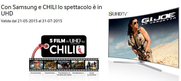 Samsung: 5 film UHD 4k in streaming su Chili, la nostra Prova