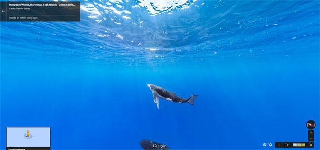 Google Street View ci porta sotto il mare