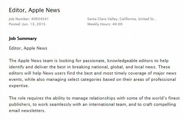 Apple cerca giornalisti per Apple News