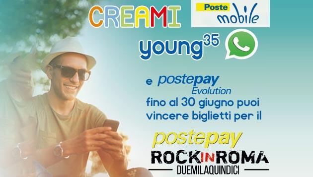 PosteMobile regala biglietti per Postepay Rock in Roma 2015