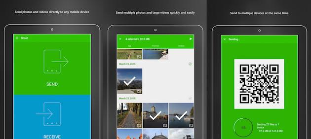 Shoot, applicazione per lo scambio dati tramite IOS, Windows Phone ed Android