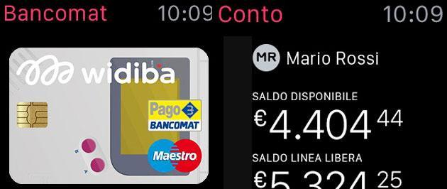 Apple Watch a quota 6000 applicazioni, Widiba la prima app italiana