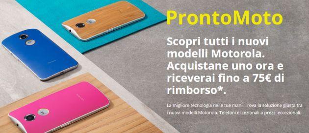 Motorola, Promozione Acquista un prodotto e ricevi fino a 75 euro di rimborso (scade 30 Settembre 2015)