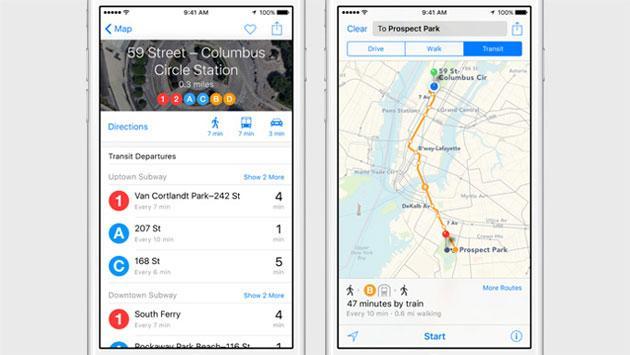 Apple iOS 9, come cambiano le Mappe
