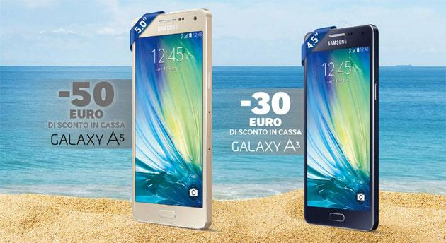 Samsung, saldi d'Estate: Galaxy A5 e Galaxy A3 sotto costo