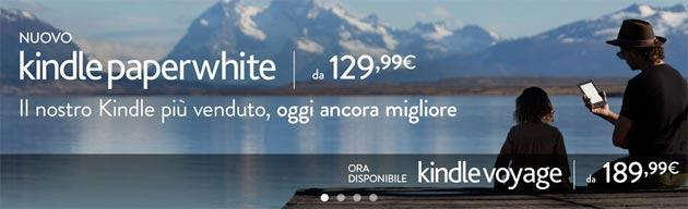 Kindle Paperwhite e Kindle Voyage disponibili in Italia