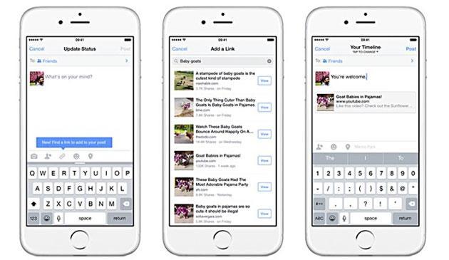 Facebook facilita la condivisione dei Link