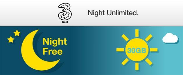 Tre Night Unlimited e Web Notte, nuova offerta per navigare di notte senza limiti