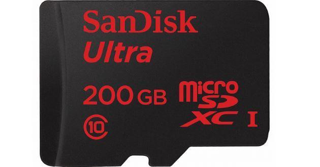Sandisk microSD da 200 GB per smartphone e tablet ora in commercio