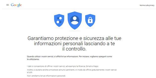 Google apre un sito per gestire Privacy e Sicurezza personale