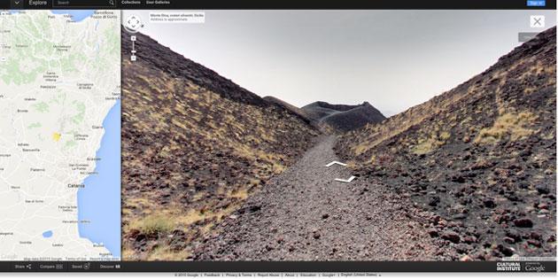 Google mappa il vulcano Etna, ora su Street View