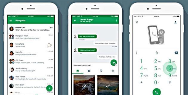 Google Hangouts per iOS aggiornato con nuova interfaccia utente