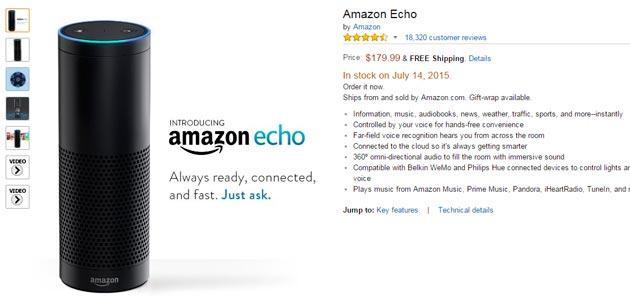 Amazon Echo, lo speaker Bluetooth che fa da Assistente Personale debutta negli USA