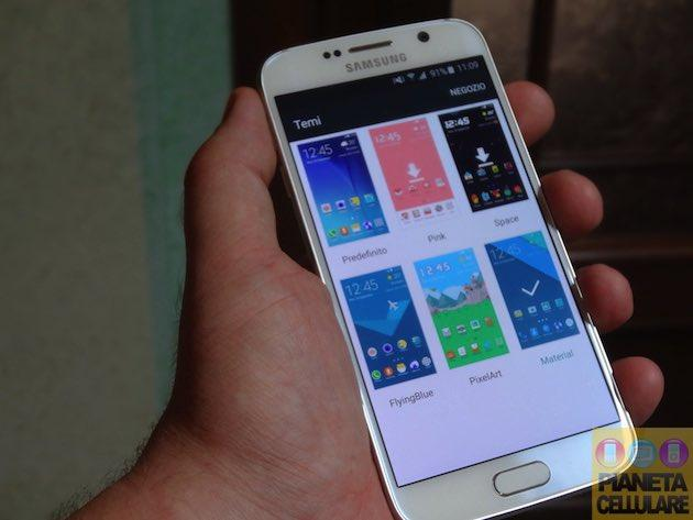 Anteprima video Tema Material Design Samsung Galaxy S6