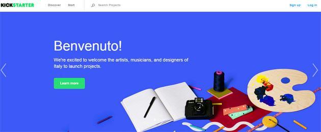 Kickstarter sbarca in Italia, il crowdfunding anche in Euro