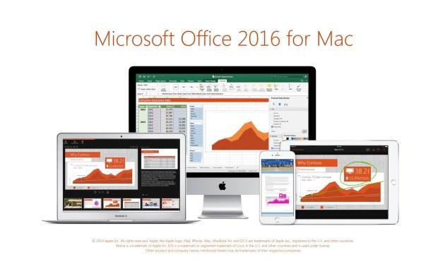 Microsoft Office 2016 per Mac, versione ufficiale ora disponibile