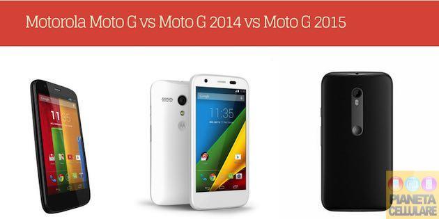 Motorola Moto G, tutta la generazione a confronto