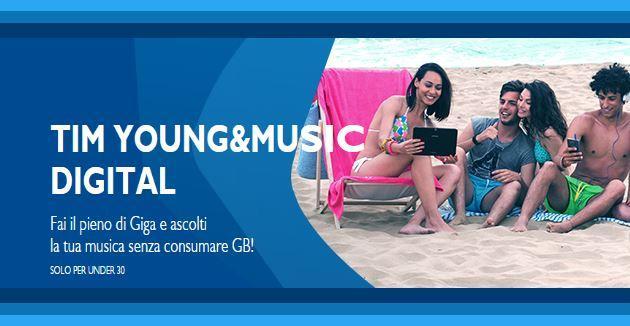 TIM Young con Music Digital, le prime 4 settimane gratis per attivazioni online
