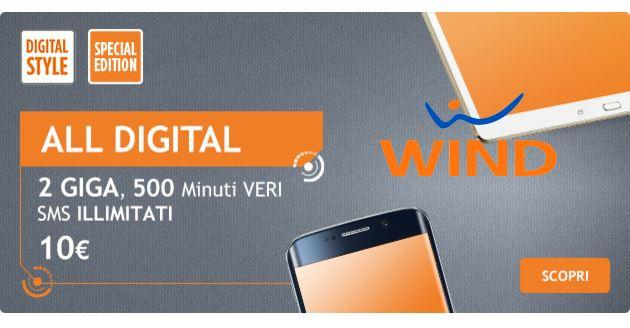 Wind All Digital Special Edition: tutto incluso a 10 euro al mese. Scopriamo l'offerta
