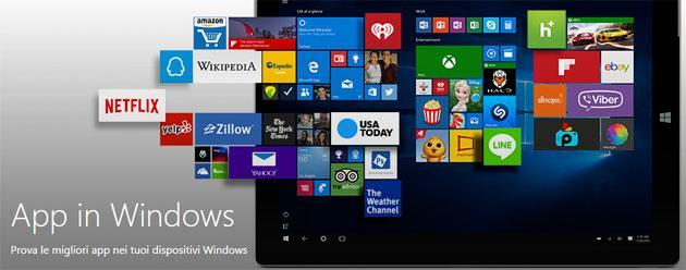 Microsoft apre unico App Store per PC, tablet e telefoni