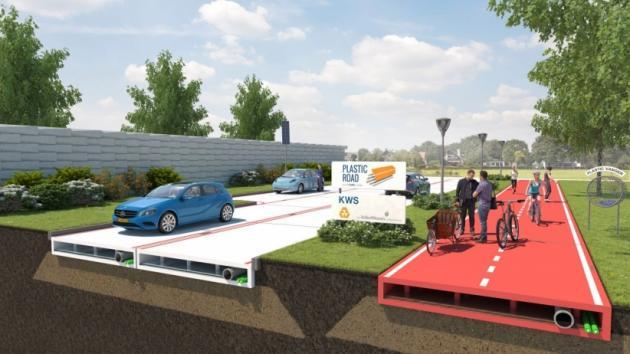 Addio asfalto, in Olanda strade di plastica