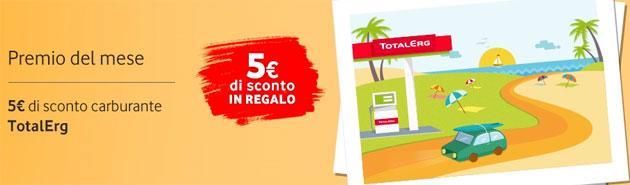 Vodafone Speciale Ricarica: Buono Sconto TotalErg a chi ricarica entro 14 Luglio