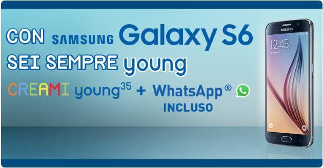 Galaxy S6 e Creami Young 35  a 32 euro al mese con l'offerta PosteMobile
